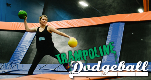 Dodge, Dive, Dip, Duck, Bounce: Trampoline Dodgeball 2013