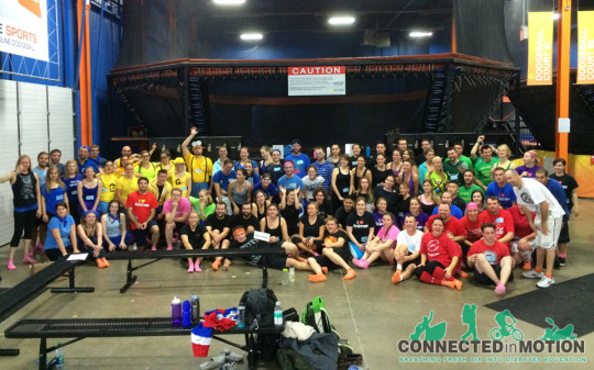 Trampoline Dodgeball- Group Photo